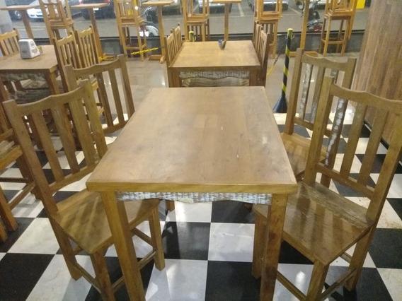 Mesa Peróba C/ 4 Cadeiras 1.00x 0.70