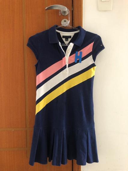 Vestido Tommy Hilfiger Azul Marinho Polo Tam.11