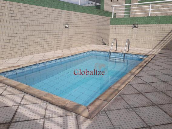 Cobertura Com 3 Dormitórios À Venda, 215 M² Por R$ 799.000,00 - Centro - São Vicente/sp - Co0013