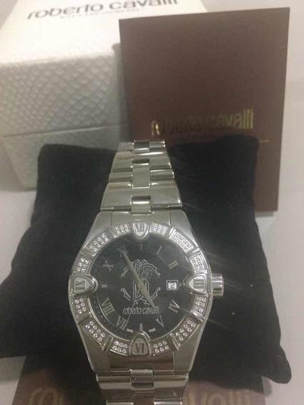 Relógio Roberto Cavalli Diamond Suíço De Luxo Genuíno.