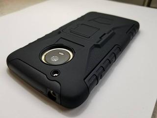 Protector Moto Z2 Play Robot Case Uso Rudo