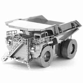 Caçamba Mineração Cat - 3d Metal Aço Inox Trator P/ Montar!