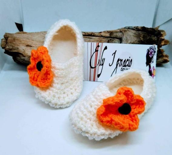 Zapatos Zapatitos Bebe Tejido Crochet Animales Huaraches