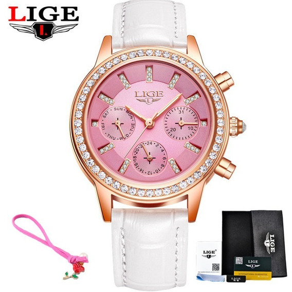 Relógio Lige Luxo + Relógio Skimei