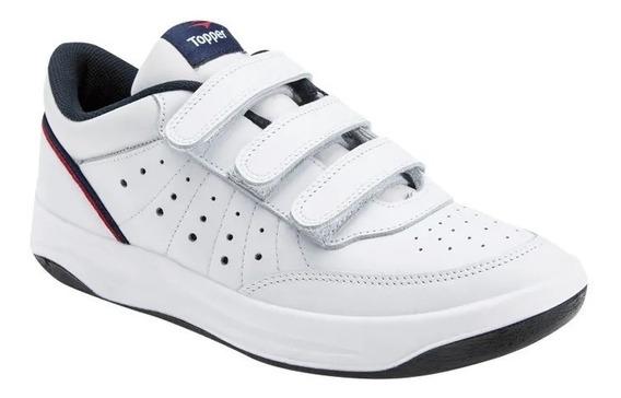 Zapatillas Topper X Forcer Velcro Adultos Bl/az/rojo 24294