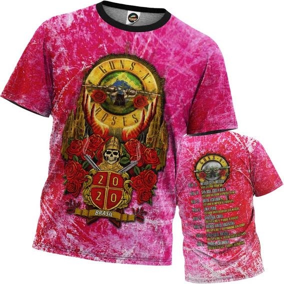 Camiseta Guns N Roses Estampa Digital Masculina Other Side