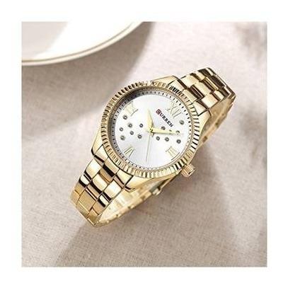Relógio Feminino Analógico Curren 9009 Dourado