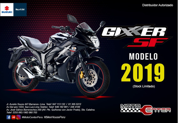 Moto Suzuki Gixxer Sf Promocion+16 Beneficios!