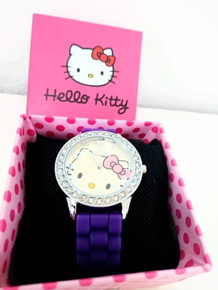 Reloj Hello Kitty Color Morado Regalo