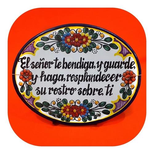 Placa De Talavera Poblana Personalizada 22x17 Cm