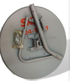 1 Antena Ku 60cm+ 1 Lnb Simples + 1 Kit Cabo