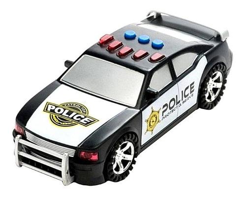 Carro De Policía Con Luces Y Sonidos