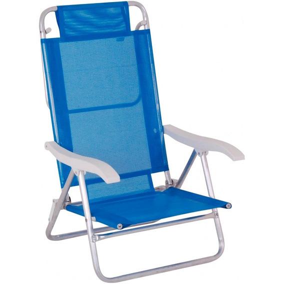 Cadeira Alumínio Summer Fashion Azul 2105 Mor Mor