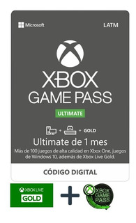 Xbox Game Pass Ultimate (1 Mes De Gold Y Game Pass)