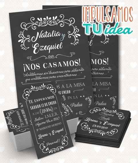 Invitación Casamiento, Tarjetita Souvenir, Personal Imprimir