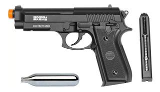 Pistola Airgun Gás Co2 Nbb Pt92 Full Metal Mostruário + Co2