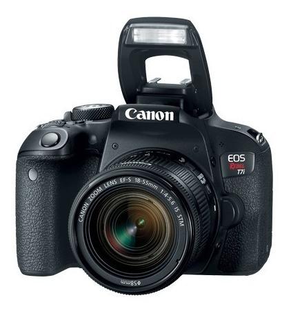 Câmera Digital Canon Eos Rebel T7i 24.2mp+ Lente Ef 18-55mm