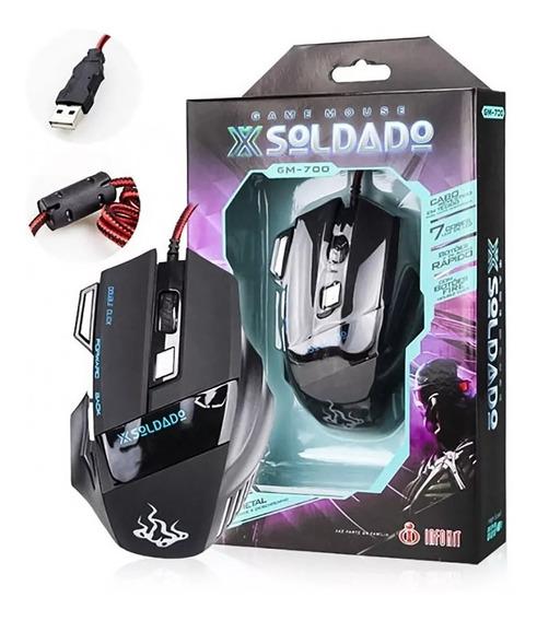 Mouse Gamer Usb Óptico 3000 Dpi 7 Botões Barato Com Garantia