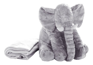 Peluche Elefante 65cm Cobija Almohada Manta Felpa Gigante