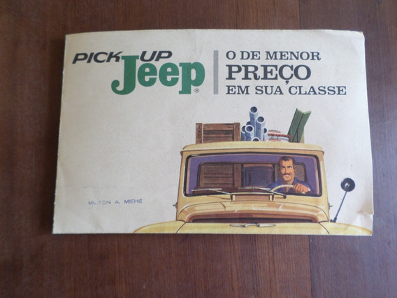 Folder Original De Concessionária Pick-up Jeep Willys