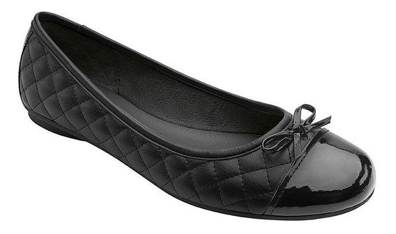 Zapato Dama Mujer Flexi Negro Casual Escolar Cómodo
