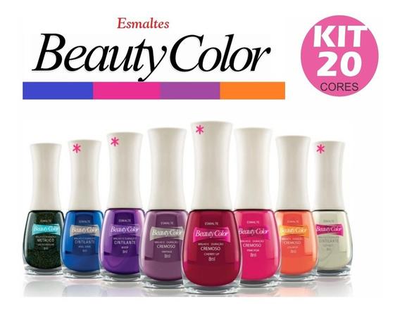 Kit 20 Esmaltes Beauty Color Atacado Cores Sortidas