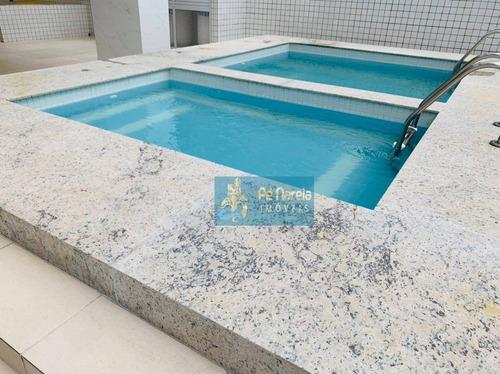 Imagem 1 de 22 de Apartamento Com 2 Dormitórios À Venda, 68 M² Por R$ 330.000,00 - Canto Do Forte - Praia Grande/sp - Ap0693