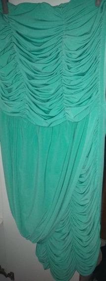 Vestido Marca Off, Cor Azul Tiffany, Tomara Que Caia