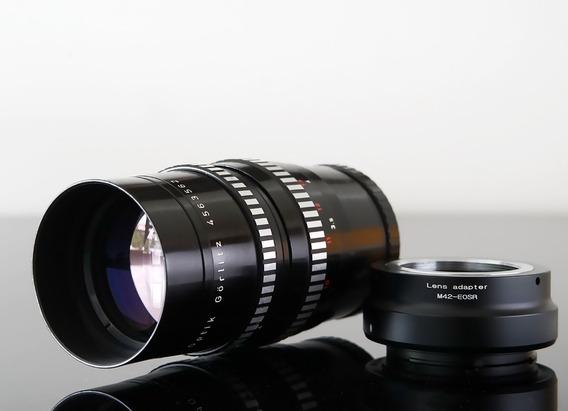Lente Meyer 200mm\15 Laminas + Adaptad. Canon Eos R-mount