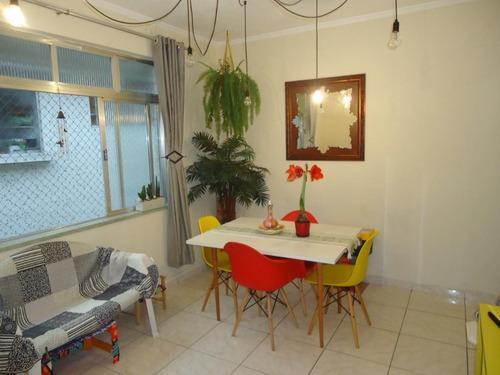 Apartamento Com 2 Dormitórios À Venda, 65 M² Por R$ 280.000,00 - Campo Grande - Santos/sp - Ap1057