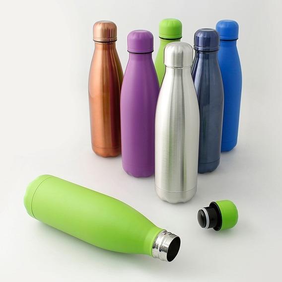 Termo Ánfora Botella Acero Inoxidable Colores 500 Ml