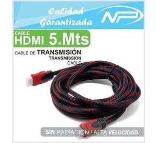 Cable Hdmi 5 Metros Con Blindaje Y Filtro Full Hd/4k Nuevo