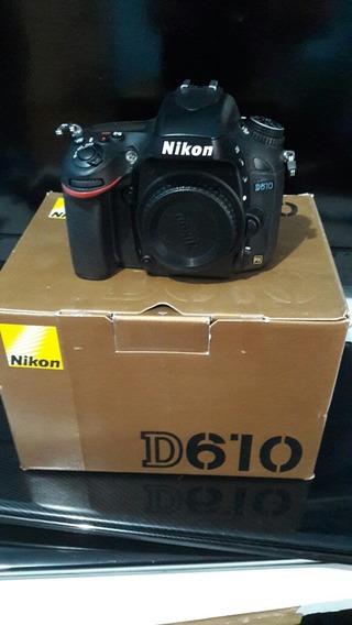 Nikon D610 Usada Com Apenas 9884 Clikes