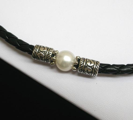 Collar De Perla De Río Auténtica, Collar Unisex