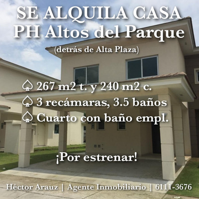 Se Alquila Casa - Ph Altos Del Parque (alta Plaza)