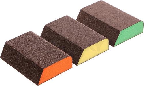 Set De Esponjas Abrasivas Para Lijado X 3 Piezas Lijas Filos
