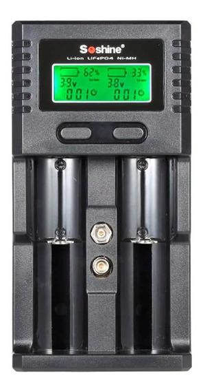Carregador De Pilha Digital Recarregavel Universal Soshine