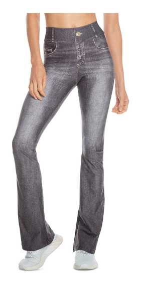 Calça Flare Jeans Rush - Cinza - Live!