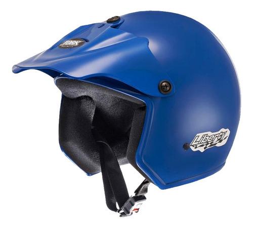Casco Moto Abierto Protork Liberty Azul T 58