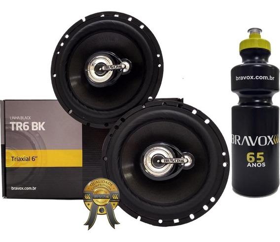 Alto Falante Triaxial Bravox Tr6bk 160w Rms + Brinde