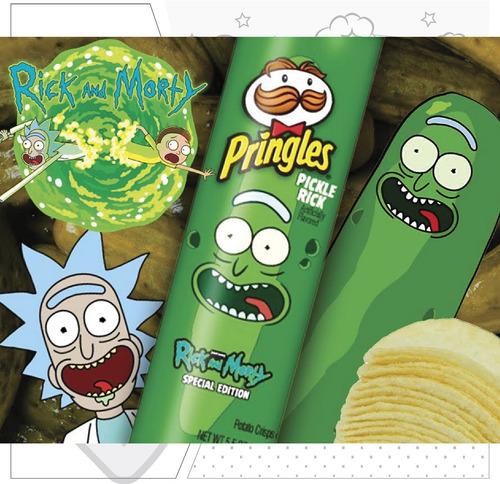 Edición Limitada Pringles Pickle Rick Rick And Morty Papas Mercado Libre