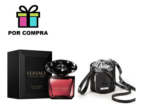 Imagen 1 de 6 de Versace Crystal Noir Edt + Regalo 90 Ml