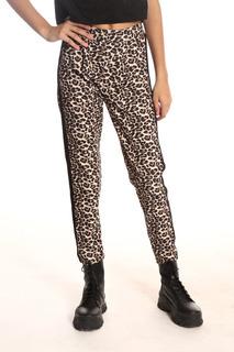 Pantalon Crepe Con Pinza En Animal Print