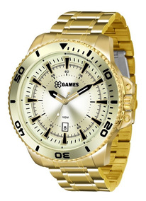 Relógio X Games Masculino Xmgs1024 C2kx Big Case Dourado