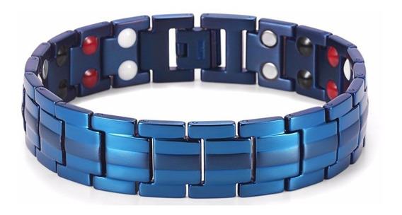 Pulseira Magnética Ion Energética Bracelete Titânio Original