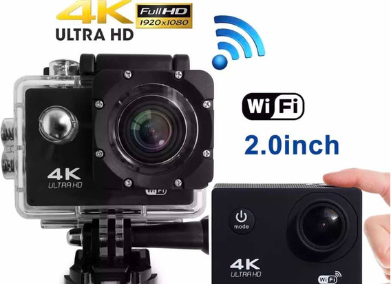 Câmera Tipo Go Pro 4k Ultra Hd À Prova Dágua