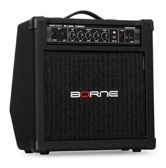 Amplificador Borne Impact Bass Cb80 30w Preto 110v/220