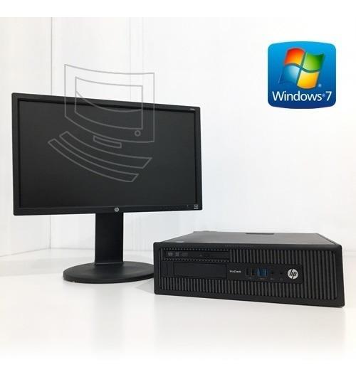 Computador Completo Hp: Cpu I5 + Monitor Led 20 + Brinde