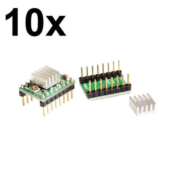 10x Driver Controlador Motor De Passo A4988 Arduino, Pololu