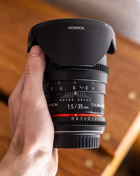 Lente Rokinon 35mm 1.5 Canon